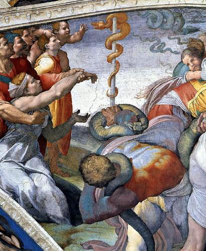 Michelangelo - Sistine Chapel, The Brazen Serpent