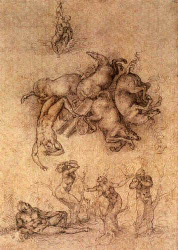 Michelangelo - The Fall of Phaeton