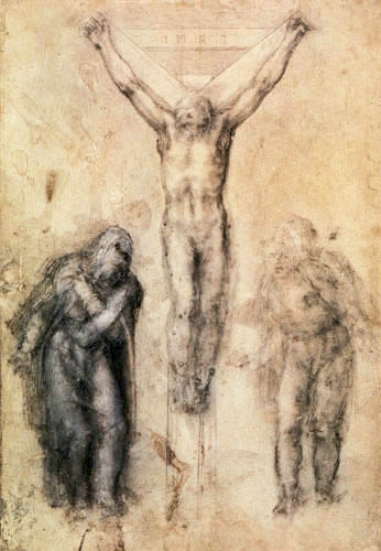 Michelangelo - Christ on the Cross between the Virgin and St. John