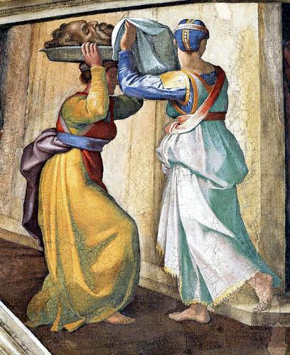 Michelangelo - Sistine Chapel, Judith and Holofernes