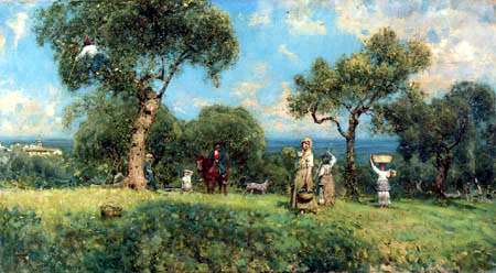 Francesco Paolo Michetti - Gathering Olives