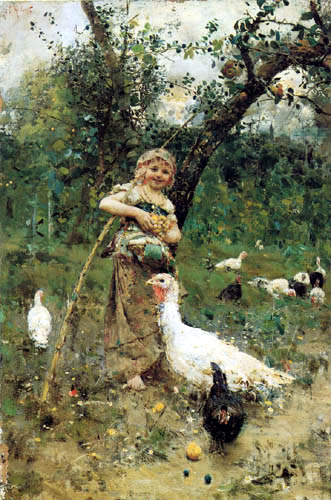 Francesco Paolo Michetti - The Poultry Keeper