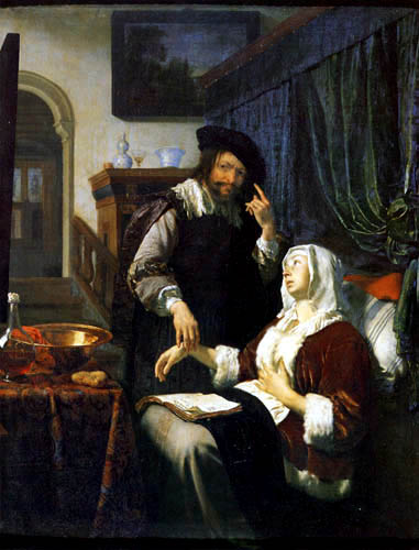 Frans van Mieris - Le visite médicale