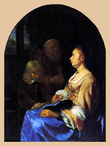 Frans van Mieris - The instruction of the child