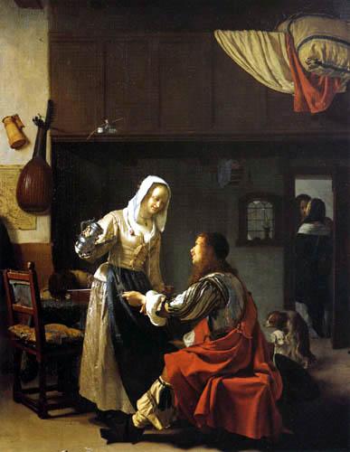 Frans van Mieris - In a Brothel