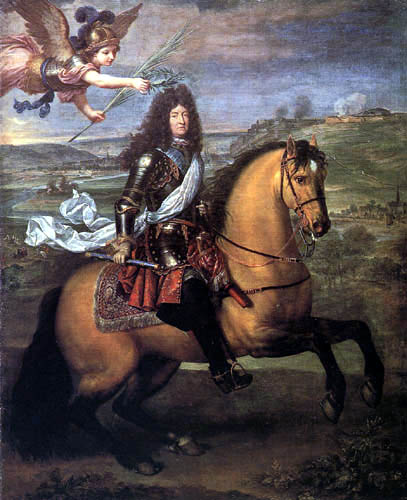 Pierre Mignard - Equestrian Portrait of Louis XIV, Crowned by Victory