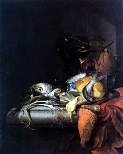 Abraham Mignon - Stillleben mit Hering