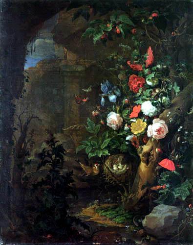 Abraham Mignon - Bouquet of flowers