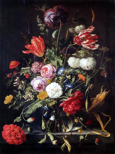 Abraham Mignon - Flowery