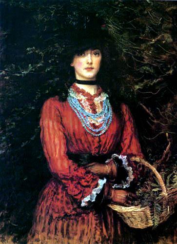 Sir John Everett Millais - Lady in Red