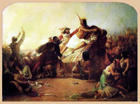 Sir John Everett Millais - Pizarro unterwirft die Inkas von Peru