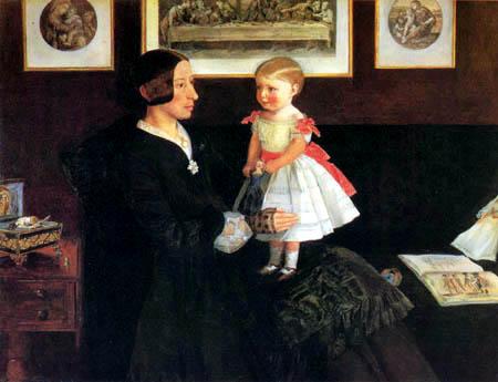 Sir John Everett Millais - Mrs. Wyatt mit ihrer Tochter Sarah