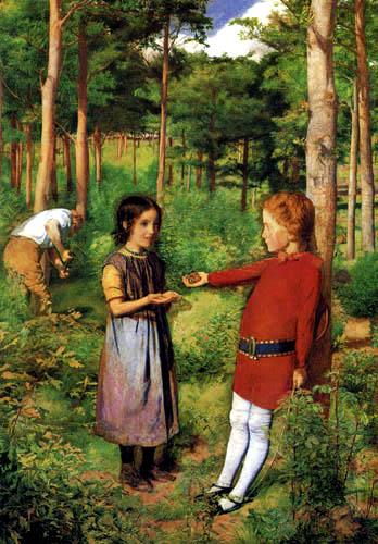 Sir John Everett Millais - Die Tochter des Waldarbeiters