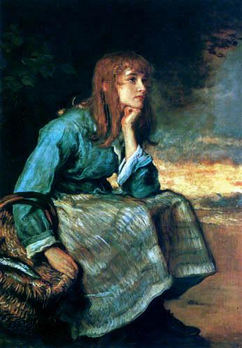 Sir John Everett Millais - Girl with herring