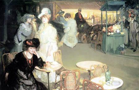 Richard Edward Miller - Café de Nuit, L´Heure de l´Apéritif