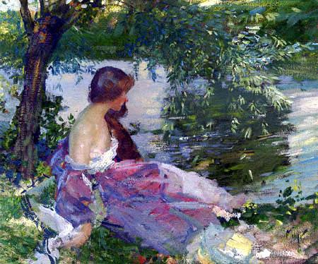 Richard Edward Miller - Reposo en el orilla del río