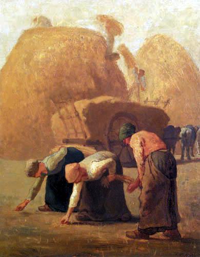 Jean-François Millet - Summer - The gleaner women