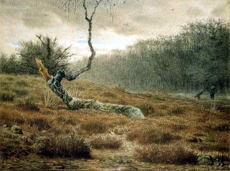 Jean-François Millet - The dead birch in the forest of Fontainebleau