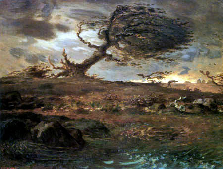 Jean-François Millet - Der Windstoß