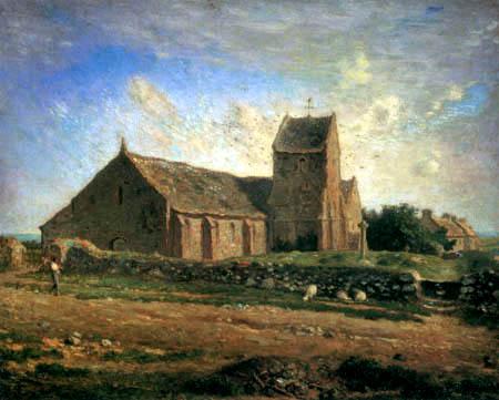 Jean-François Millet - Die Kirche in Gréville