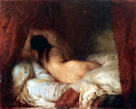 Jean-François Millet - A sleeping girl