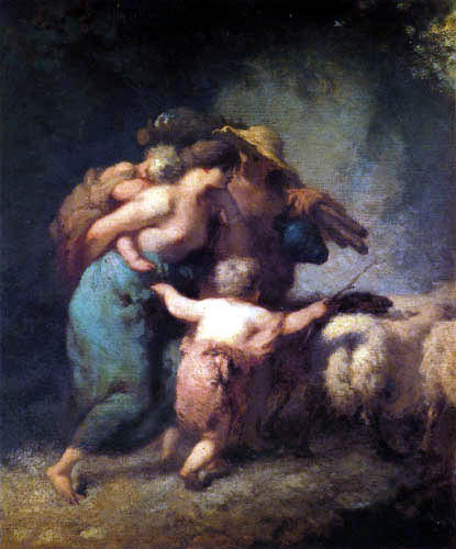 Jean-François Millet - The return of the flock