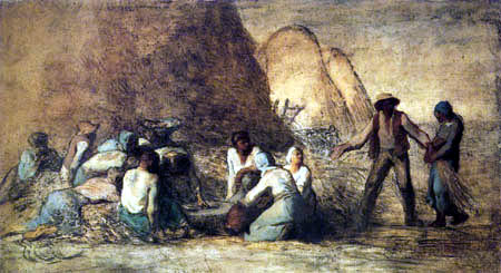 Jean-François Millet - Break of the harvest workers