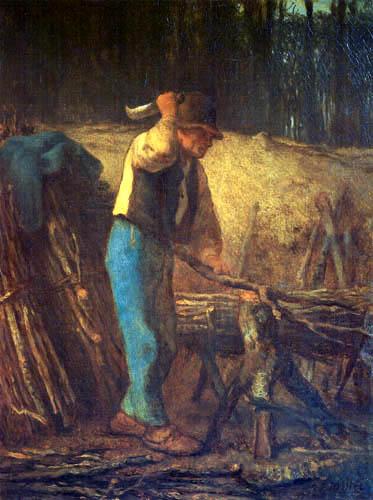 Jean-François Millet - El cortador de leña