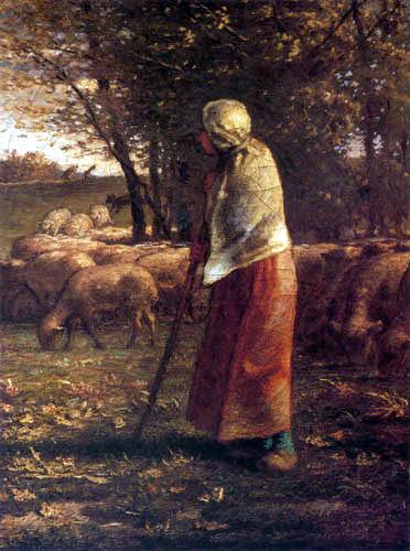 Jean-François Millet - The little shepherdess