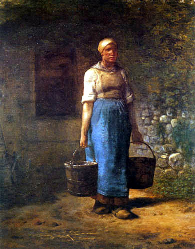 Jean-François Millet - Farmer wife returning from the well