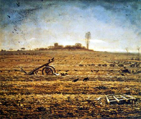 Jean-François Millet - Winter landscape with crows