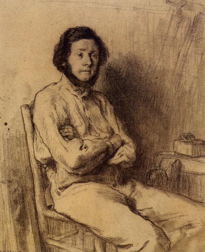 Jean-François Millet - Auguste Millet, the Brother of the Artist