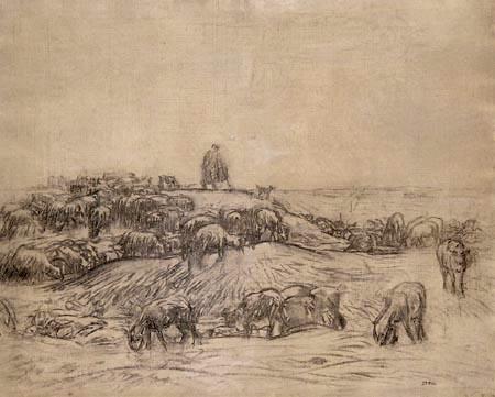 Jean-François Millet - Shepherd by his flock