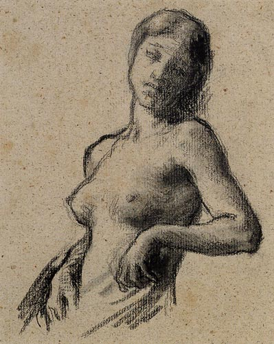 Jean-François Millet - Halbakt einer Frau