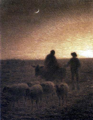 Jean-François Millet - Evening