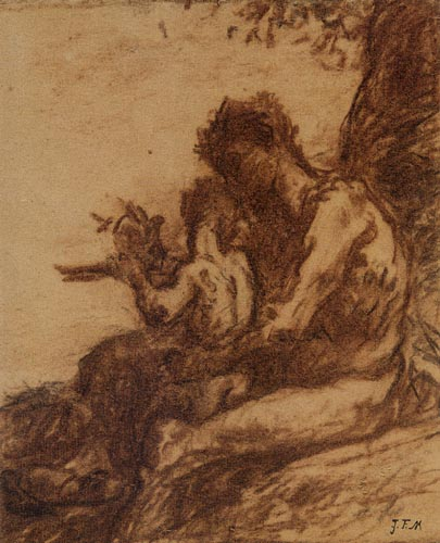 Jean-François Millet - Education of a Faun