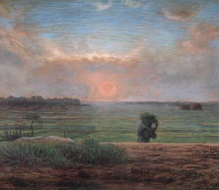Jean-François Millet - Farmer's wife in sunset