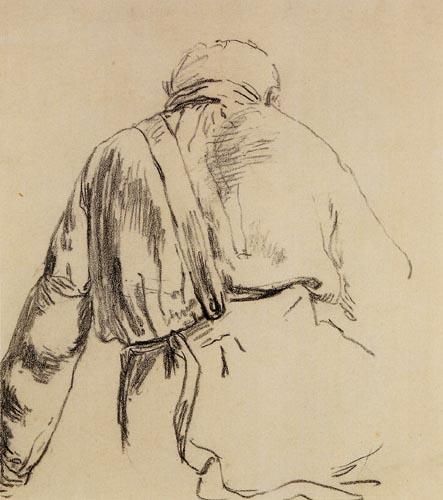 Jean-François Millet - Study of a Man