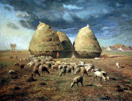 Jean-François Millet - Autumn - Haystacks