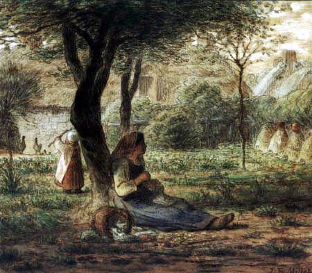 Jean-François Millet - In the Garden