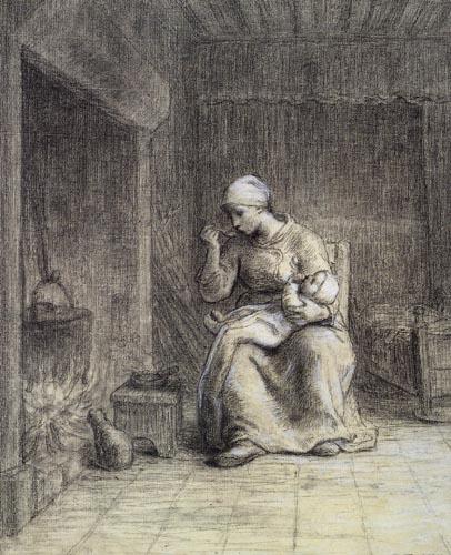 Jean-François Millet - The Porridge of the Child