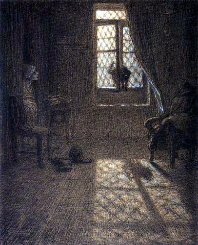 Jean-François Millet - The Cat