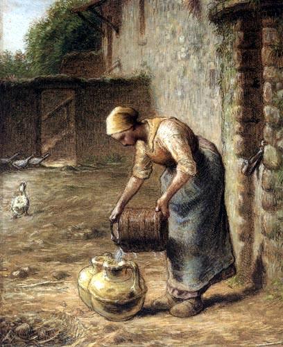 Jean-François Millet - La femme au puits