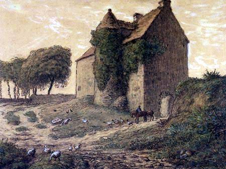 Jean-François Millet - The manor Tréauville nearly Gréville