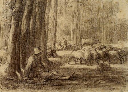 Jean-François Millet - The rest of a Berger