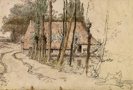Jean-François Millet - Haus an einem Teich