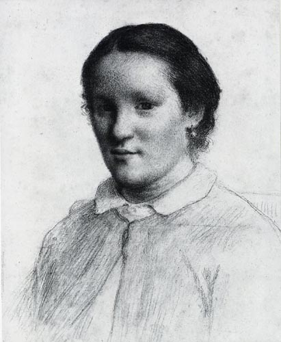 Jean-François Millet - Portrait of a Young Woman