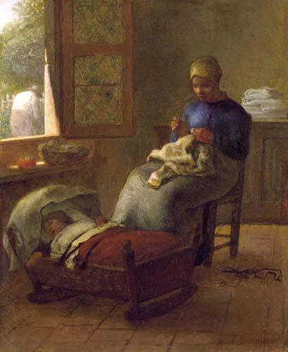 Jean-François Millet - Baby's Slumber