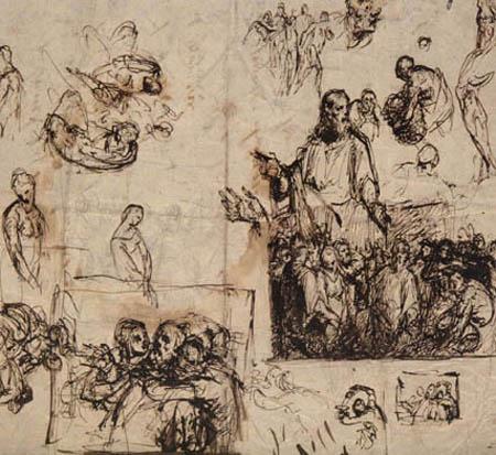 Jean-François Millet - Étude 'Le Christ'