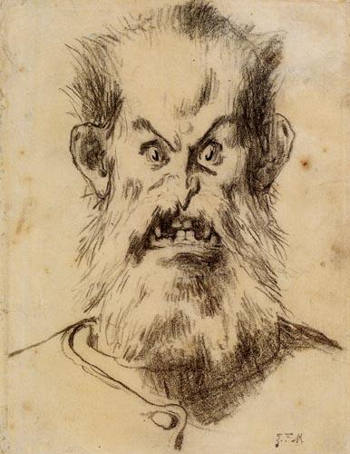 Jean-François Millet - Head of an ogre